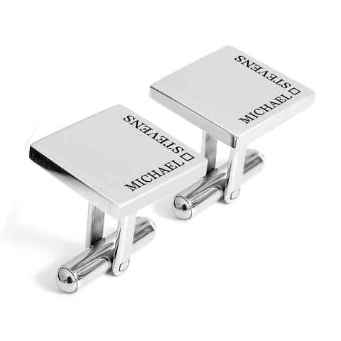 Personalised engraved cufflinks with name