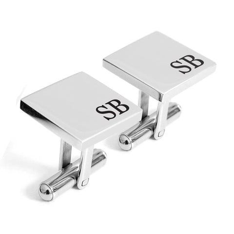 Personalised engraved Initial stainless cufflinks - Alexa Lane