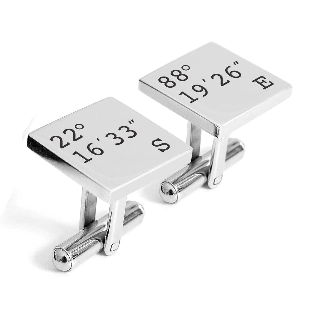 Latitude and Longitude Cufflinks