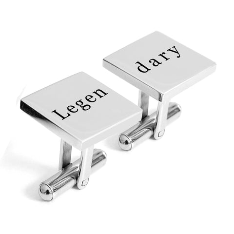 Engraved Legendary cufflinks