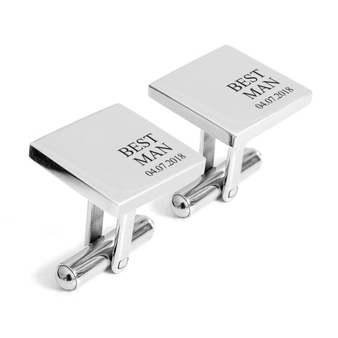 Best Man cufflinks with date - Alexa Lane