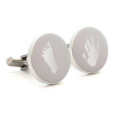 Engraved cufflinks your childs prints - Alexa Lane