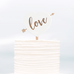 Cake Topper Love Heart Arrow - Alexa Lane