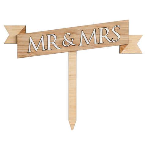 Personalised Cake Topper Mr and Mrs - Alexa Lane