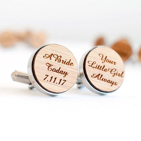 Father of the Bride Bamboo cufflinks - Alexa Lane