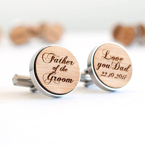 Personalised Father of the Groom Cufflinks - Alexa Lane