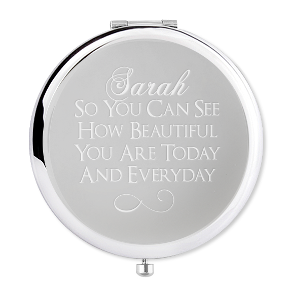 Engraved Compact Mirror for a special friend - Alexa Lane