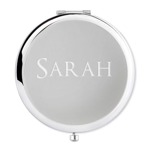 Engraved Name Compact Mirror with name - Alexa Lane