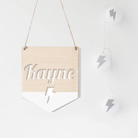 Name Flag Wall Hanging Bolt - Alexa Lane