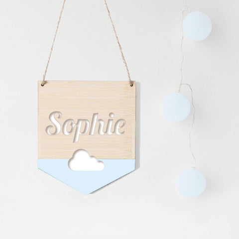Name Flag Wall Hanging Cloud - Alexa Lane