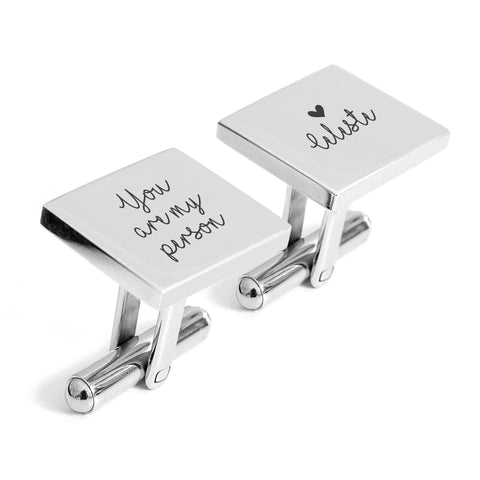 You are my person engraved cufflinks