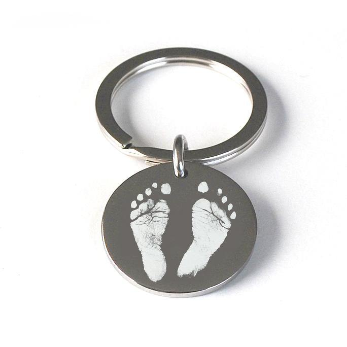 Childs Foot or Hand Print Pendant Keyring
