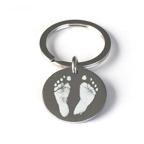 Childs Foot or Hand Print Pendant Keyring - Alexa Lane