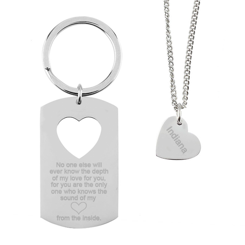 Mum Daughter keyring necklace set - Alexa Lane