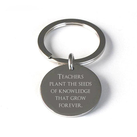 Teacher gift pendant keyring - Alexa Lane