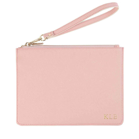 Pink Pouch with Wrist Strap