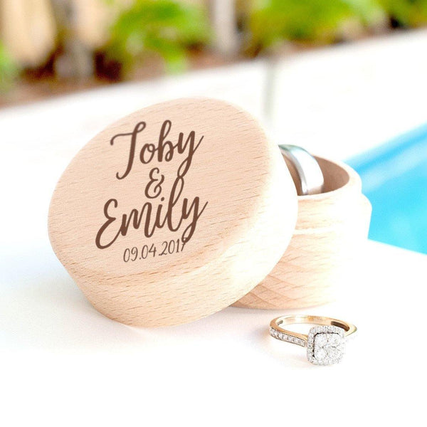 Personalised wooden ring box - Alexa Lane