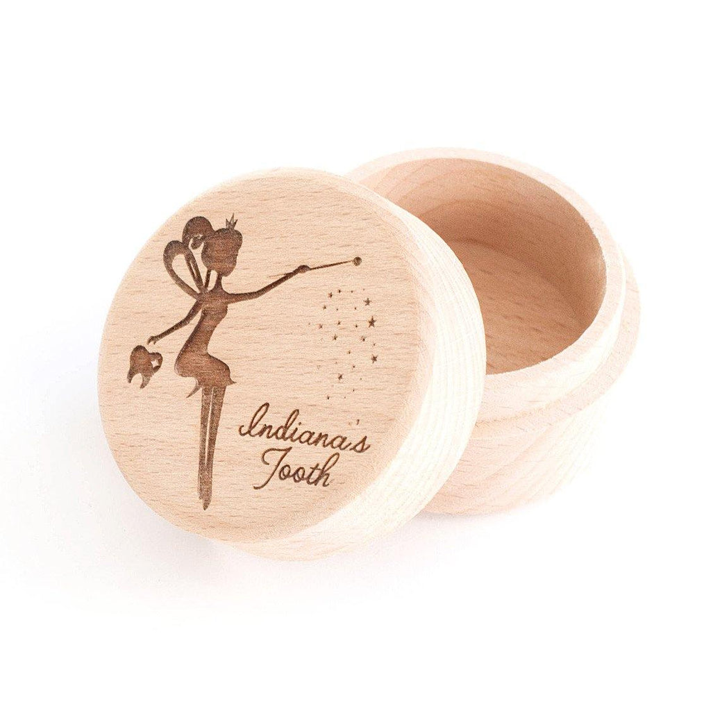 Personalised wooden tooth fairy box - Alexa Lane