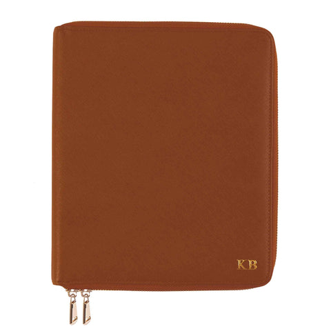 Tan Zippered Compendium