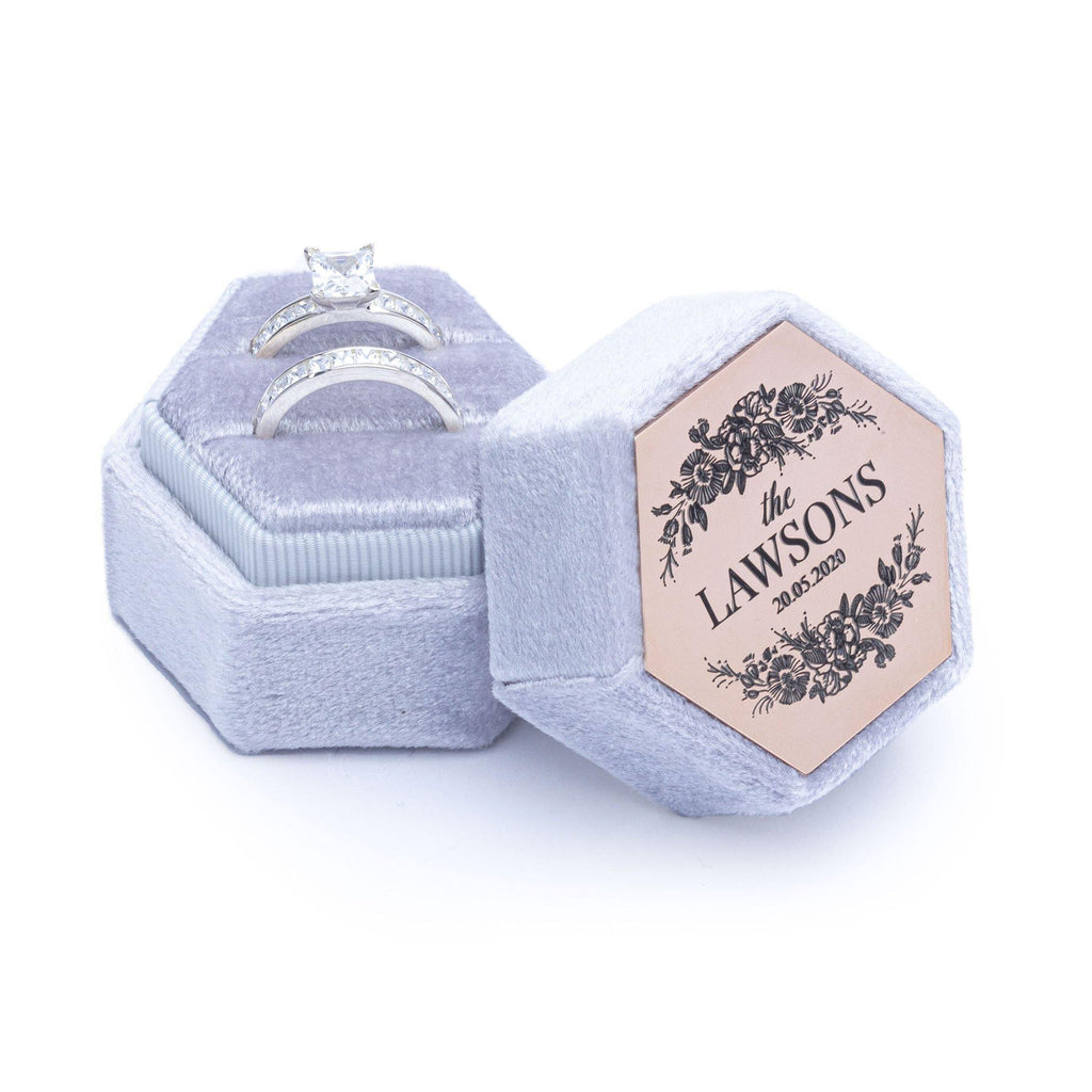 Velvet Ring Box Grey