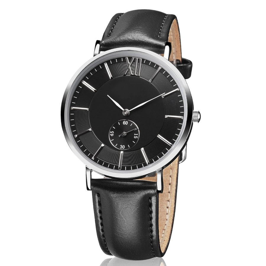 Black Engraved personalised men's watch - Alexa Lane