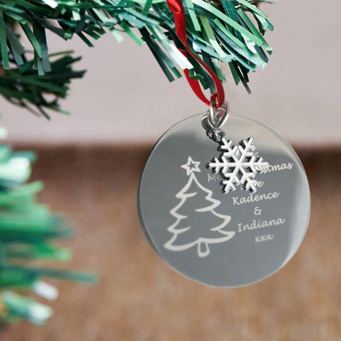 Custom engraved Christmas decoration - Alexa Lane