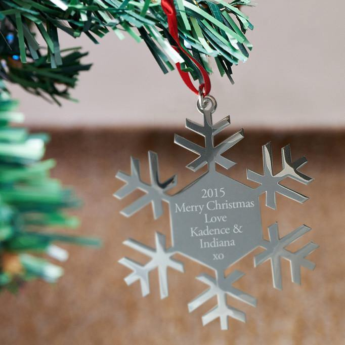 Snow Flake engraved Christmas decoration - Alexa Lane