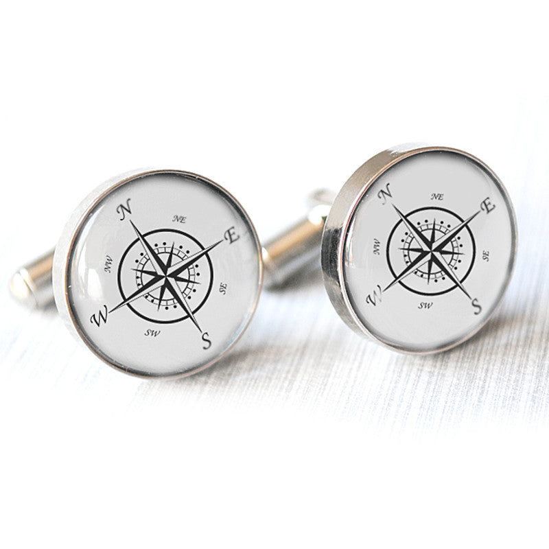 VINTAGE COMPASS CUFFLINKS - Alexa Lane