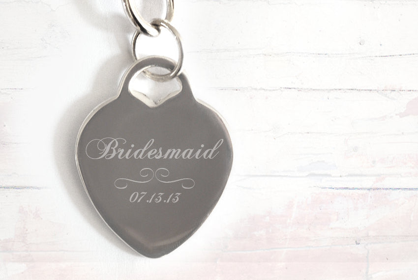 Bridesmaid Wedding Necklace with date - Alexa Lane