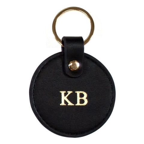 Vegan leather keyring black