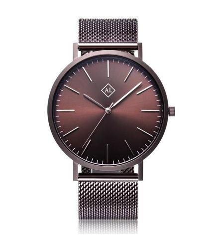 Personalised men's watch with stainless steel band - Alexa Lane