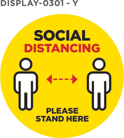 Social Distancing 2m Stickers - HK Brand Expert Ta\ChemOnline SA