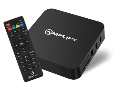 AMPLIFY - ANDROID TV BOX WITH REMOTE