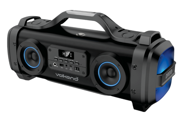 Volkano PORTABLE BLUETOOTH SPEAKER With FM Radio, USB Reader and Carry Handle