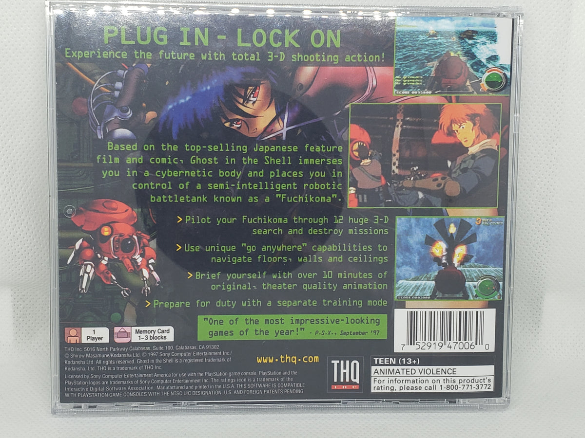Ghost In The Shell Ps1 Replacement Case Retroarcademods