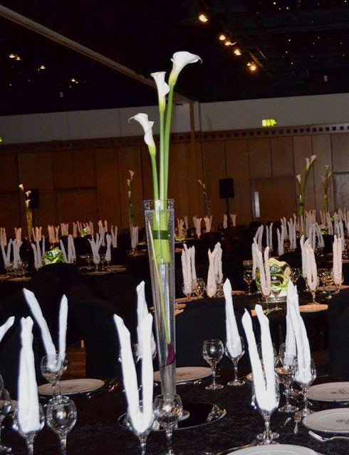 Simple Classic White Calla Lily Flower Centrepieces