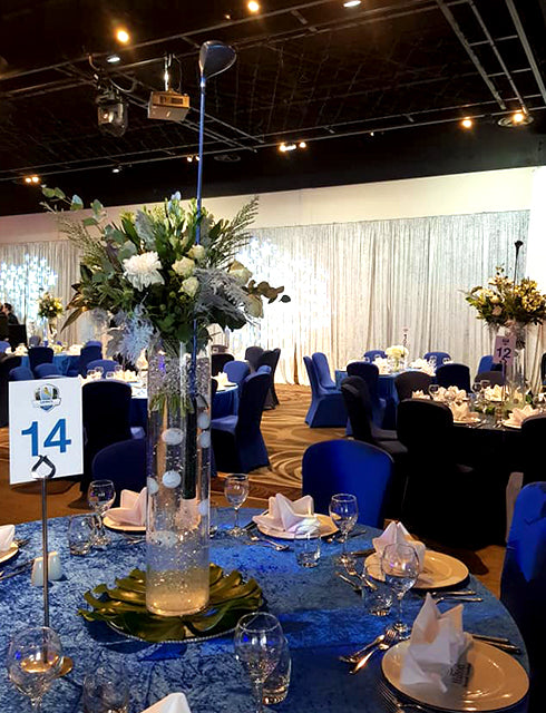 Golf Themed Corporate Event Table Arrangements