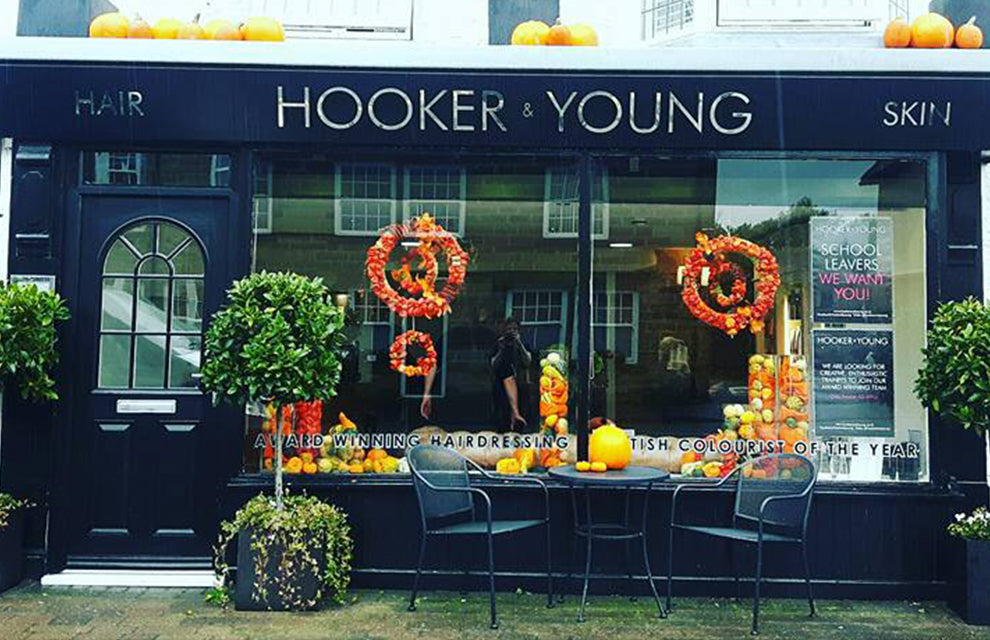 Hooker and Young Shop Front Halloween Decoration