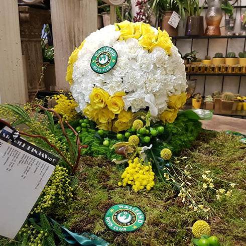 Football Themed Funeral Tribute
