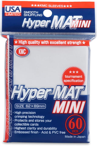 USA Limited KMC Card Barrier - Hyper Matte Mini - White (60-Pack)