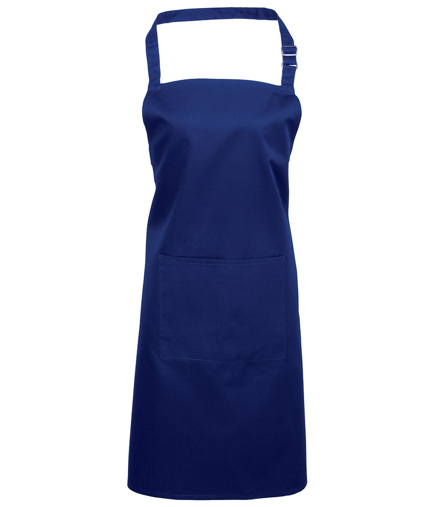 10 Embroidered Premier 'Colours' Bib Apron with Pocket