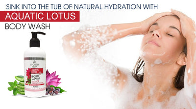 Sink Into The Tub Of Natural Hydration With Aquatic Lotus Body Wash
