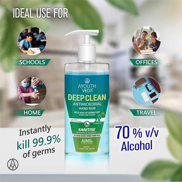 Deep Clean Anti Microbial Hand Rub 500ml each
