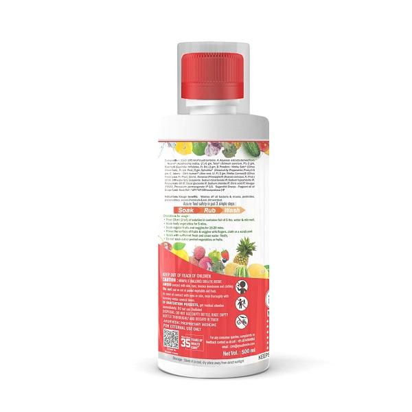 Deep Clean Anti Microbial Fruits & Vegetable Wash (500 ml Each) Pack of 2 - Ayouthveda