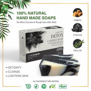 Handmade Soaps Combo4 (Charcoal Soap, Indian Clay Soap, Nuts & Saffron Soap)