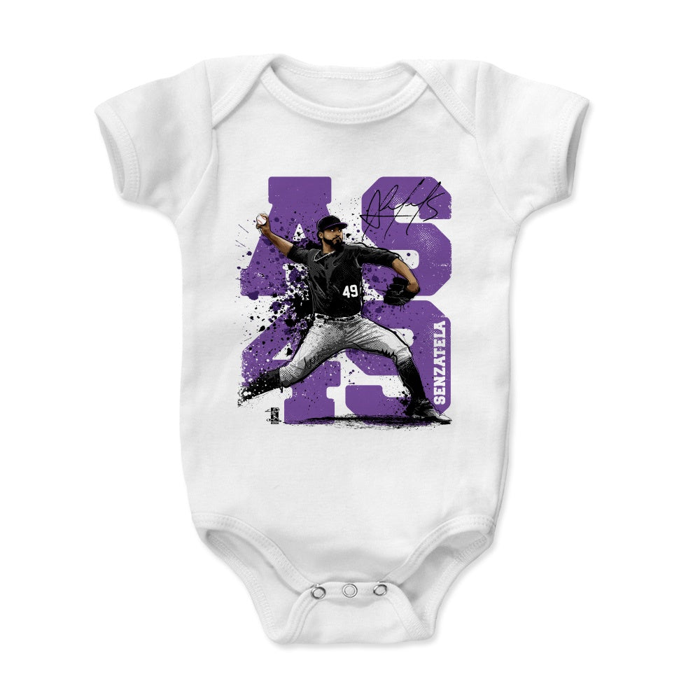 Charlie Blackmon Chuck Nazty Players Weekend WHT 3-6, 6-12, 12-18, 18-24 Months 500 LEVEL Charlie Blackmon Colorado Baseball Baby Clothes /& Onesie