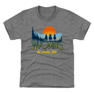 Wyoming Kids T-Shirt | 500 LEVEL