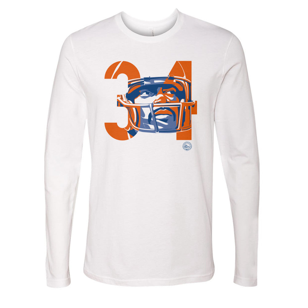 Walter Payton Men's Long Sleeve T-Shirt | 500 LEVEL