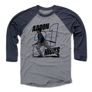 Aaron Hicks Men's Baseball T-Shirt | 500 LEVEL