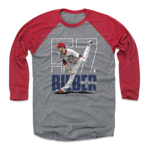 Shane Bieber Men's Baseball T-Shirt | 500 LEVEL